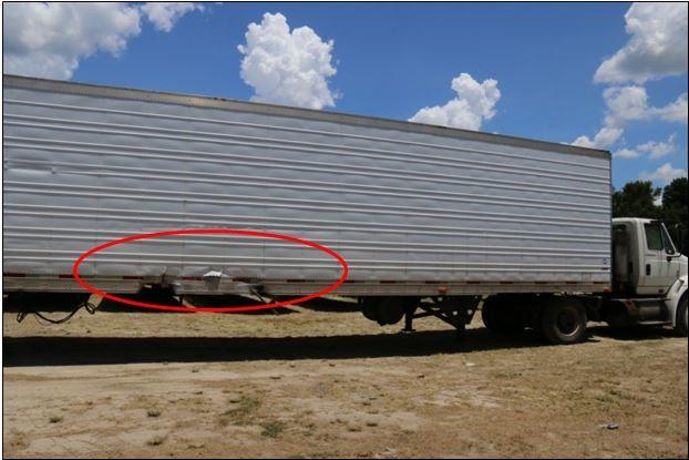 Así quedó el acoplado del camión