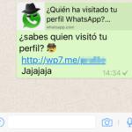 """""""¿Quién visitó tu perfil?"""": la estafa de Facebook se mudó a WhatsApp"""