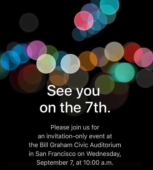 Apple inivtacion iPhone 7