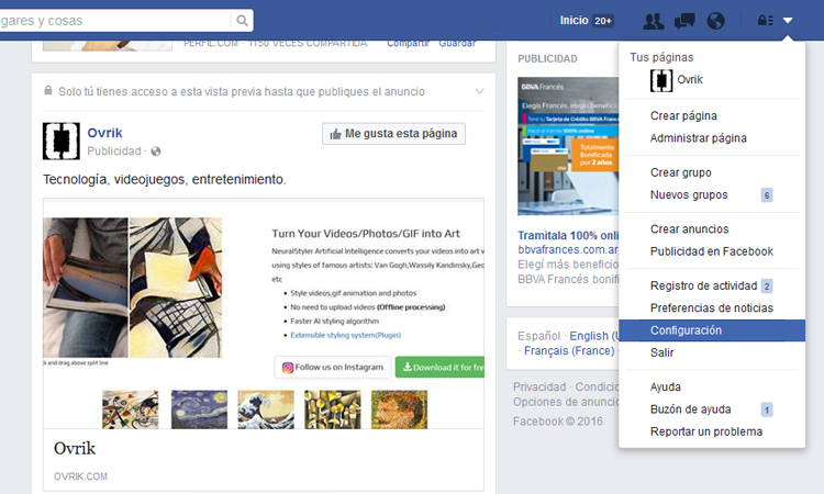Notificaciones Facebook Live 1