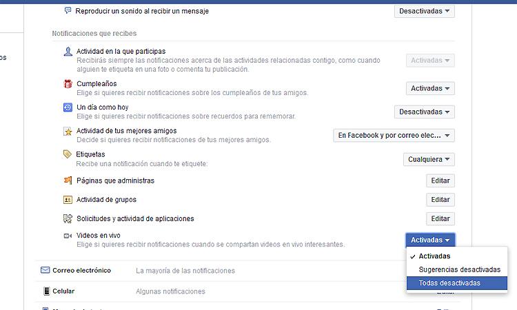 Notificaciones Facebook Live 3