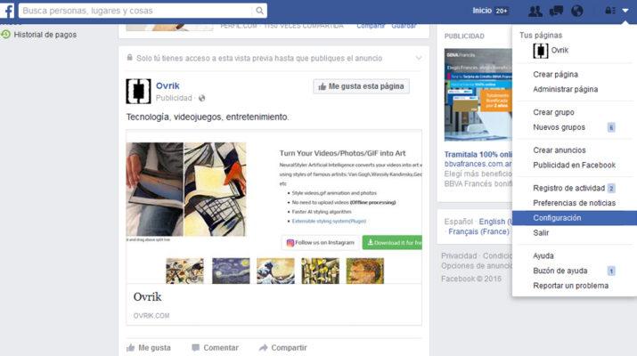 Notificaciones Facebook Live