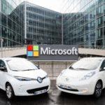 Microsoft conectará los autos de Renault y Nissan
