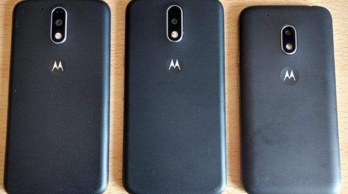 Moto G4 Plus, G4 y G4 Play