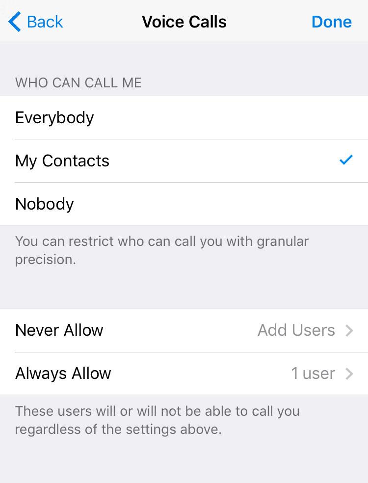 Control llamadas Telegram