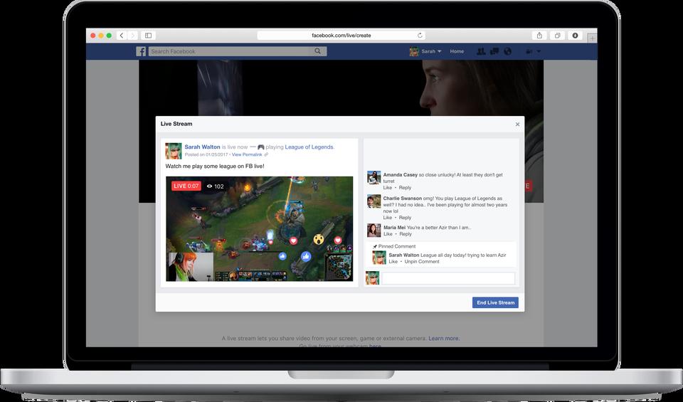 Facebook Live juegos