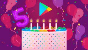 Google Play 5 años