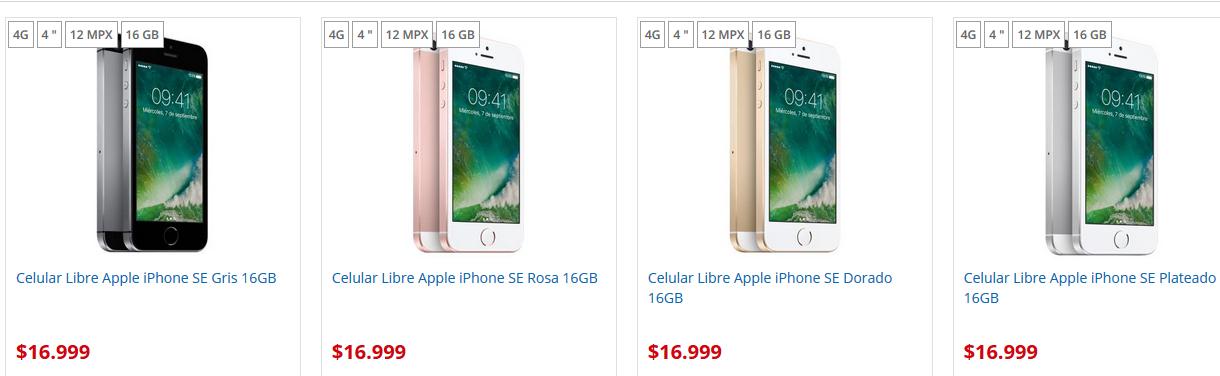 iPhone SE precio argentina