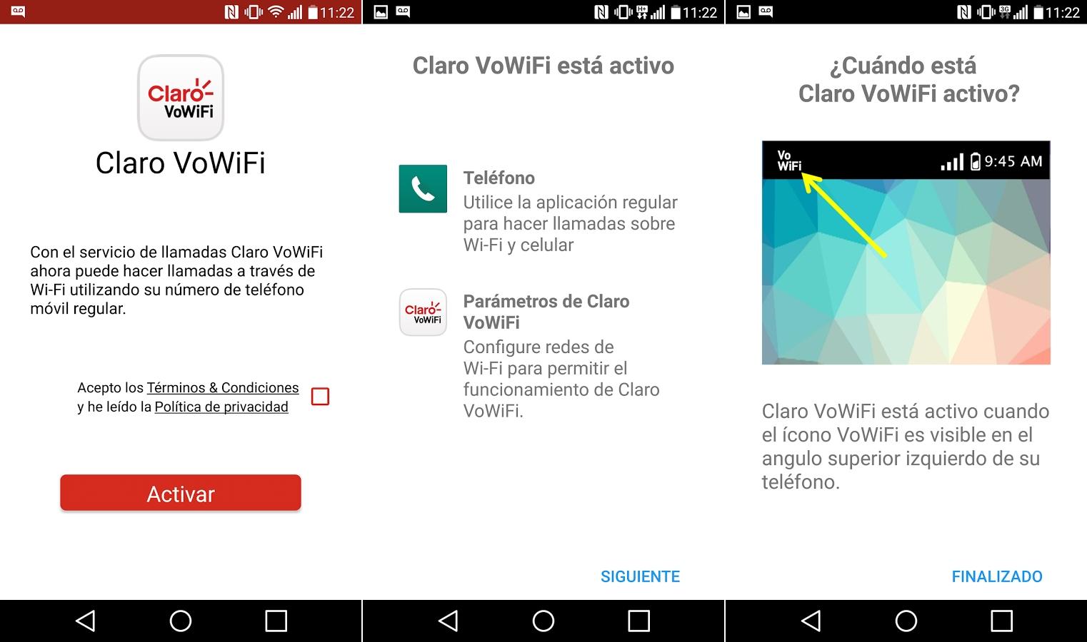 Configuración de la app para Android