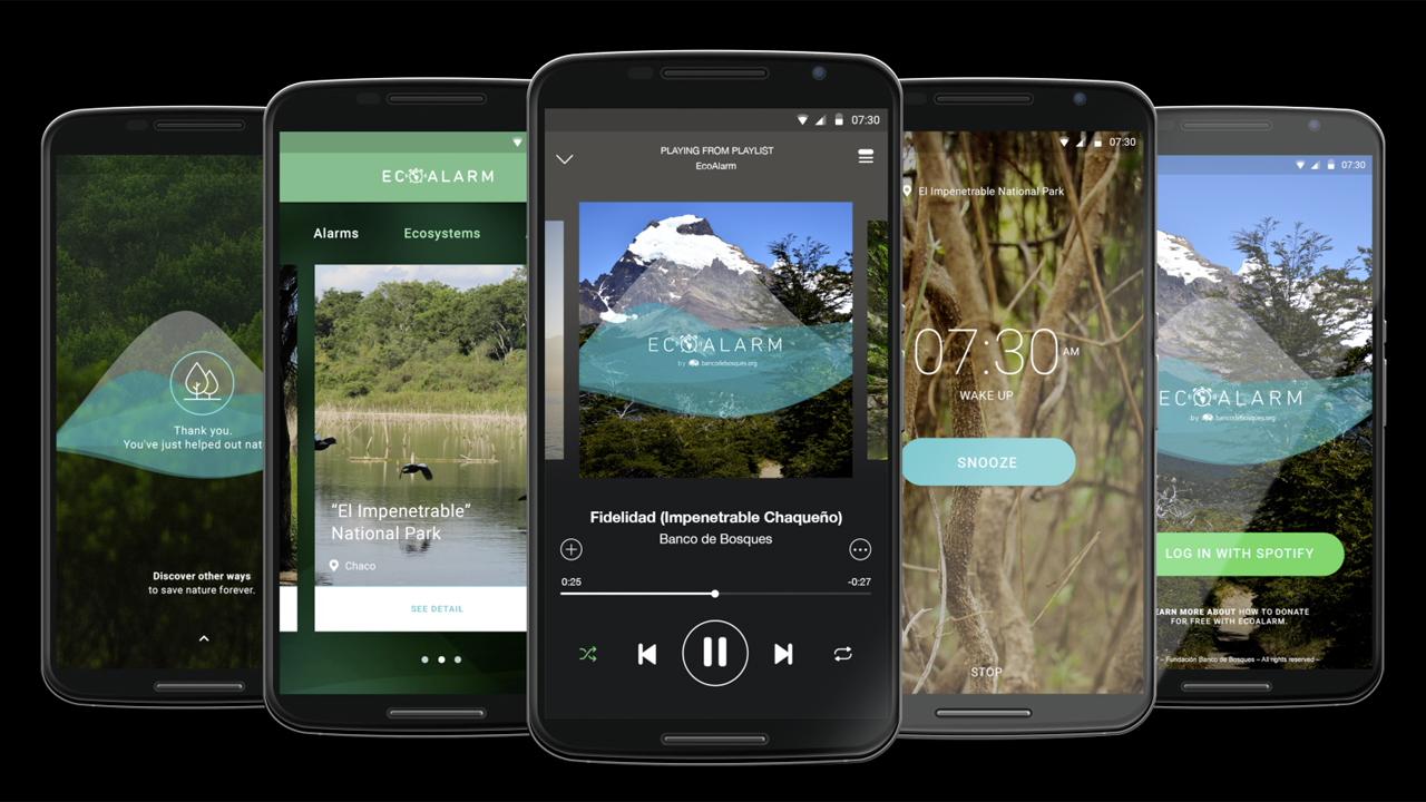 Ecoalarm una alarma con sonidos de bosques nativos que for Sonido de alarma