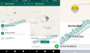 WhatsApp ubicacion tiempo real