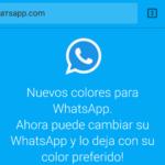 WhatsApp en colores, otro intento de estafa