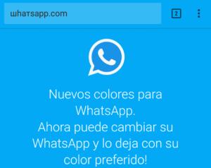 WhatsApp colores malware