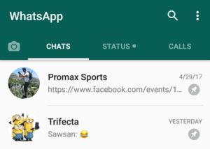 WhatsApp fijar charlas