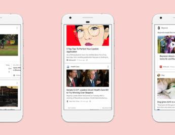 Google actualiza su app para ofrecer noticias al estilo Facebook