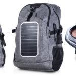 EXO presentó una mochila solar para recargar dispositivos