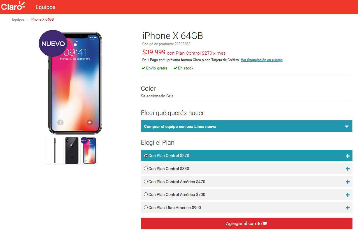 iPhone X Claro