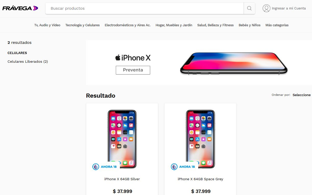 iPhone X Fravega
