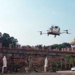 Video: Ehang probó su taxi drone con pasajeros