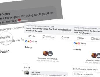 Facebook comentarios privados