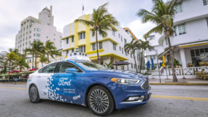 Ford auto sin conductor Miami