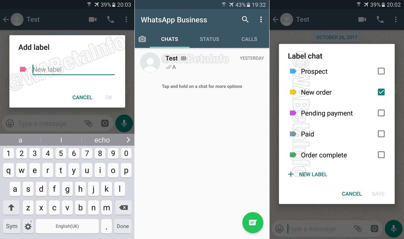 Etiquetas WhatsApp