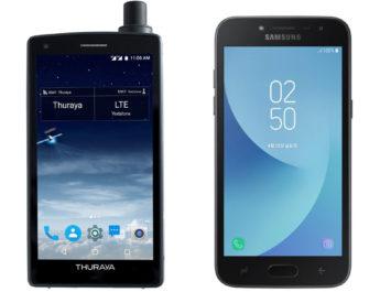 Thuraya X5-Touch y Samsung J2 Pro: los celulares más y menos conectados