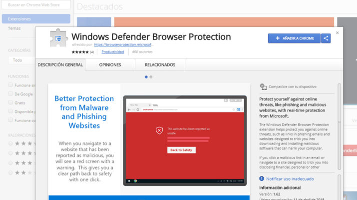 Windows Defender Chrome