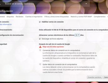 Así se activa el modo offline en el nuevo Gmail