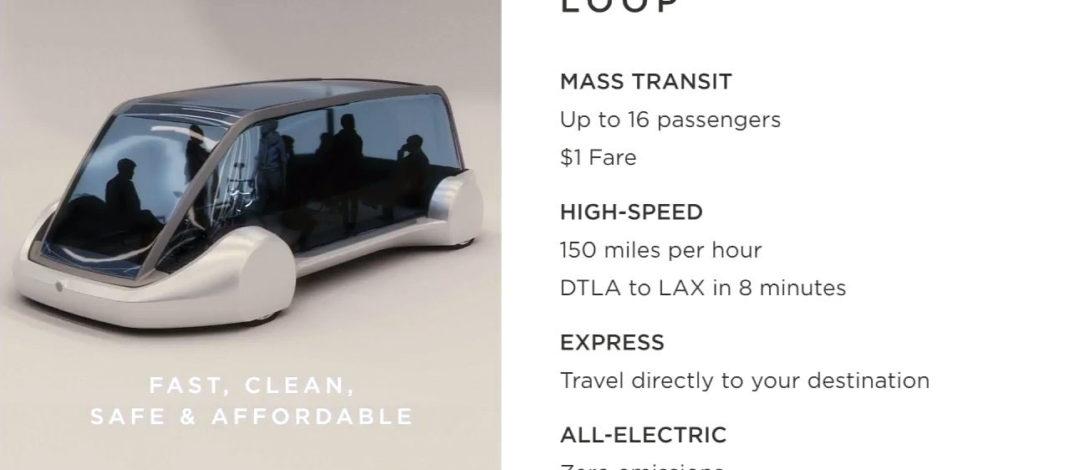 Elon Musk promete viajes subterráneos a 240 km/h por u$s1