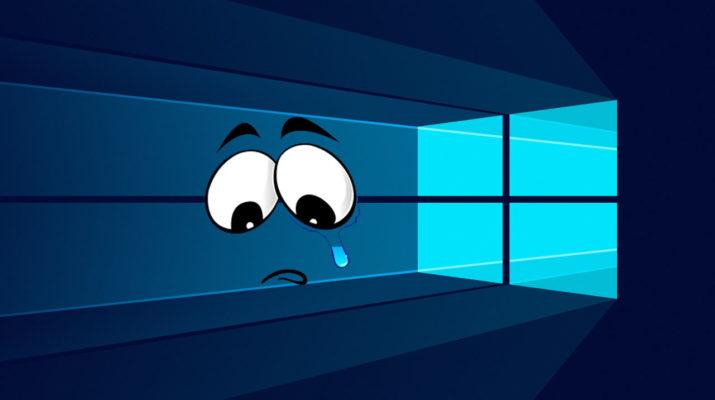 Windows 10 triste