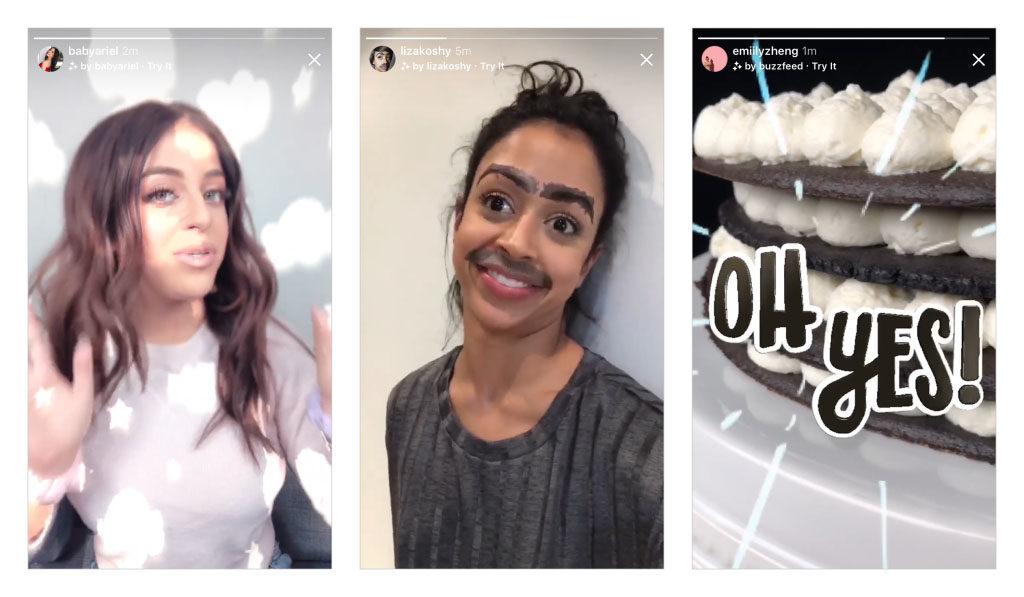 Nuevos efectos camara instagram