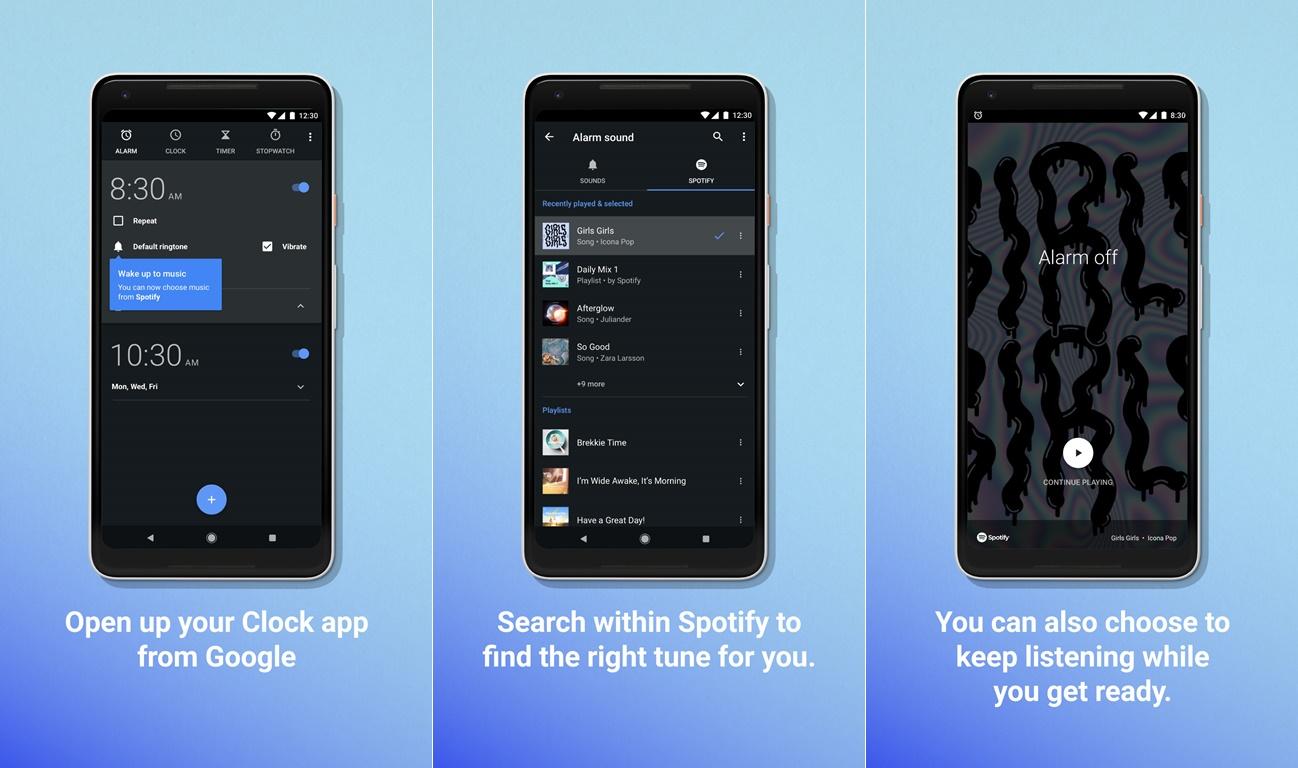 Despertador Spotify alarma