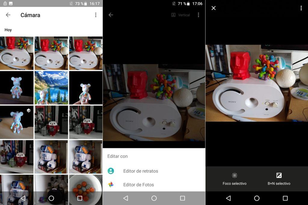 Editor retratos Moto G6