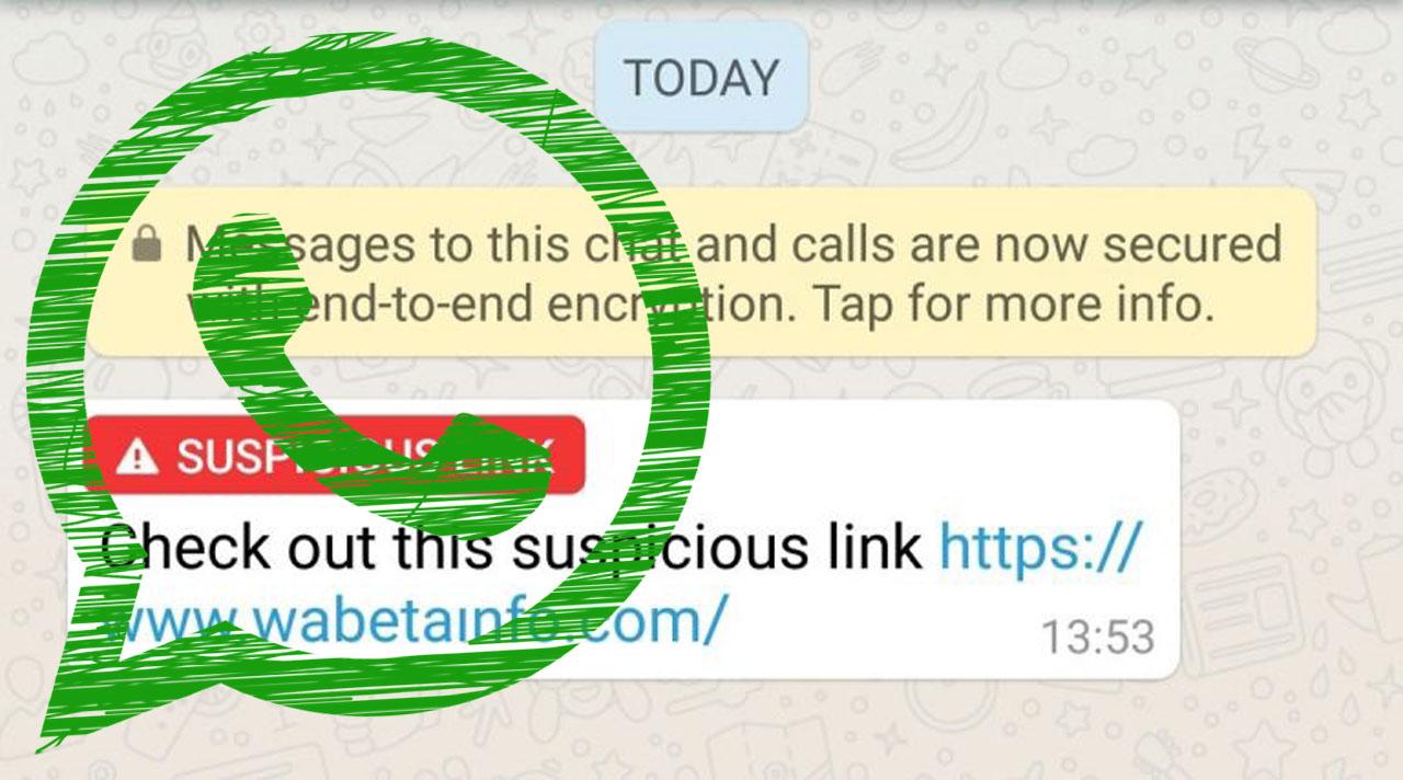 Enlace sospechoso WhatsApp