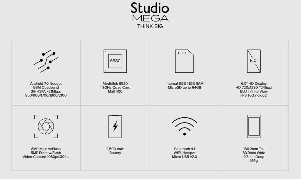 BLU Studio Mega