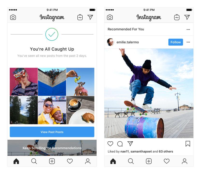 Publicaciones recomendadas Instagram