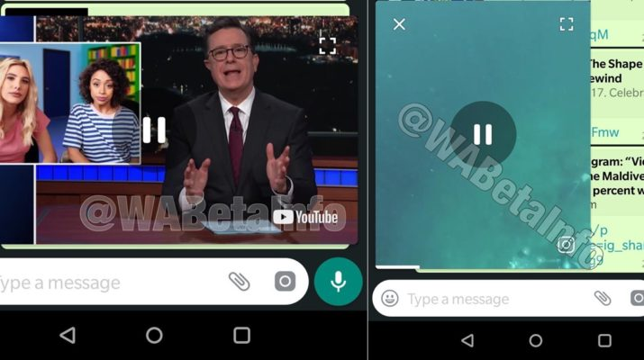 WhatsApp Picture in Picture
