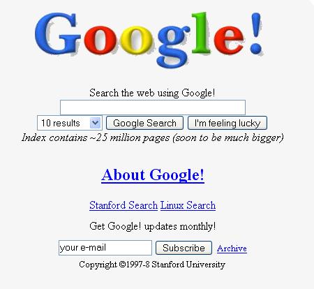 Primera portada Google