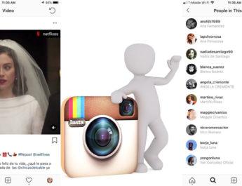 Etiquetas videos Instagram
