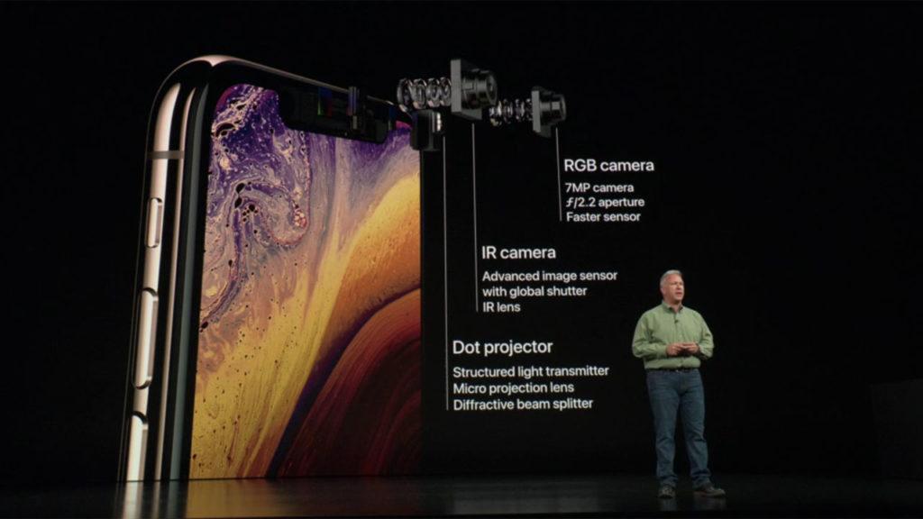 iPhone XS Camara delantera