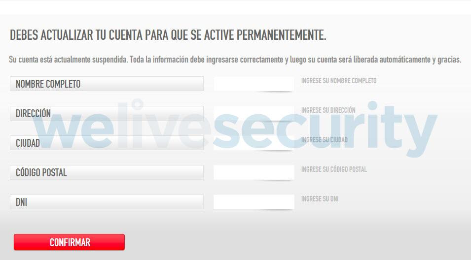 Phishing Mastercard