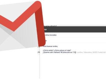 Gmail agregó un sistema de autocompletado inteligente para redactar un mail casi de manera automática