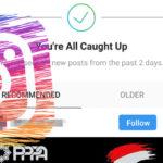 """Instagram tiene una novedosa idea para mantenerte en la app después de leer el mensaje """"Estás al día"""""""