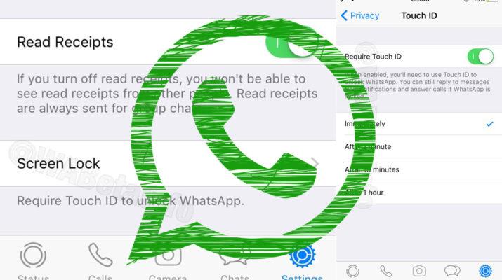 WhatsApp huella digital