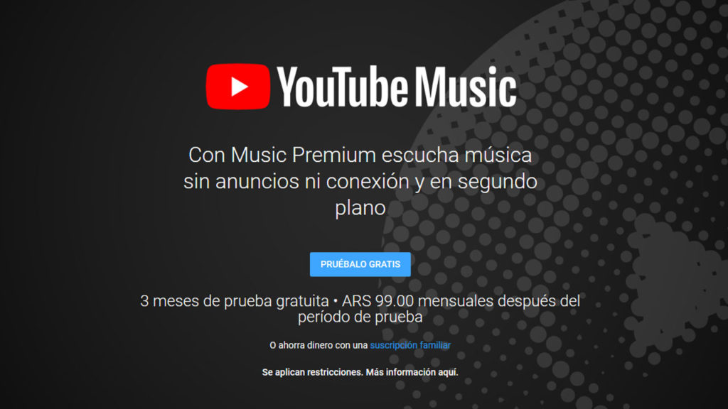 YouTube Music Argentina