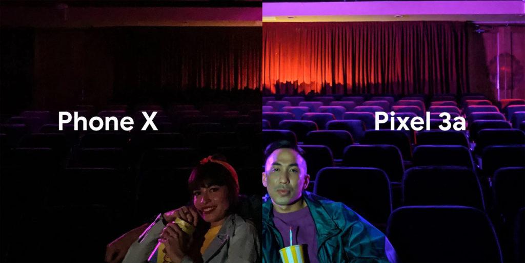 Comparacion iPhone X Pixel 3a