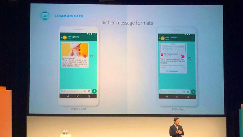 Mensjaes publicidad WhatsApp