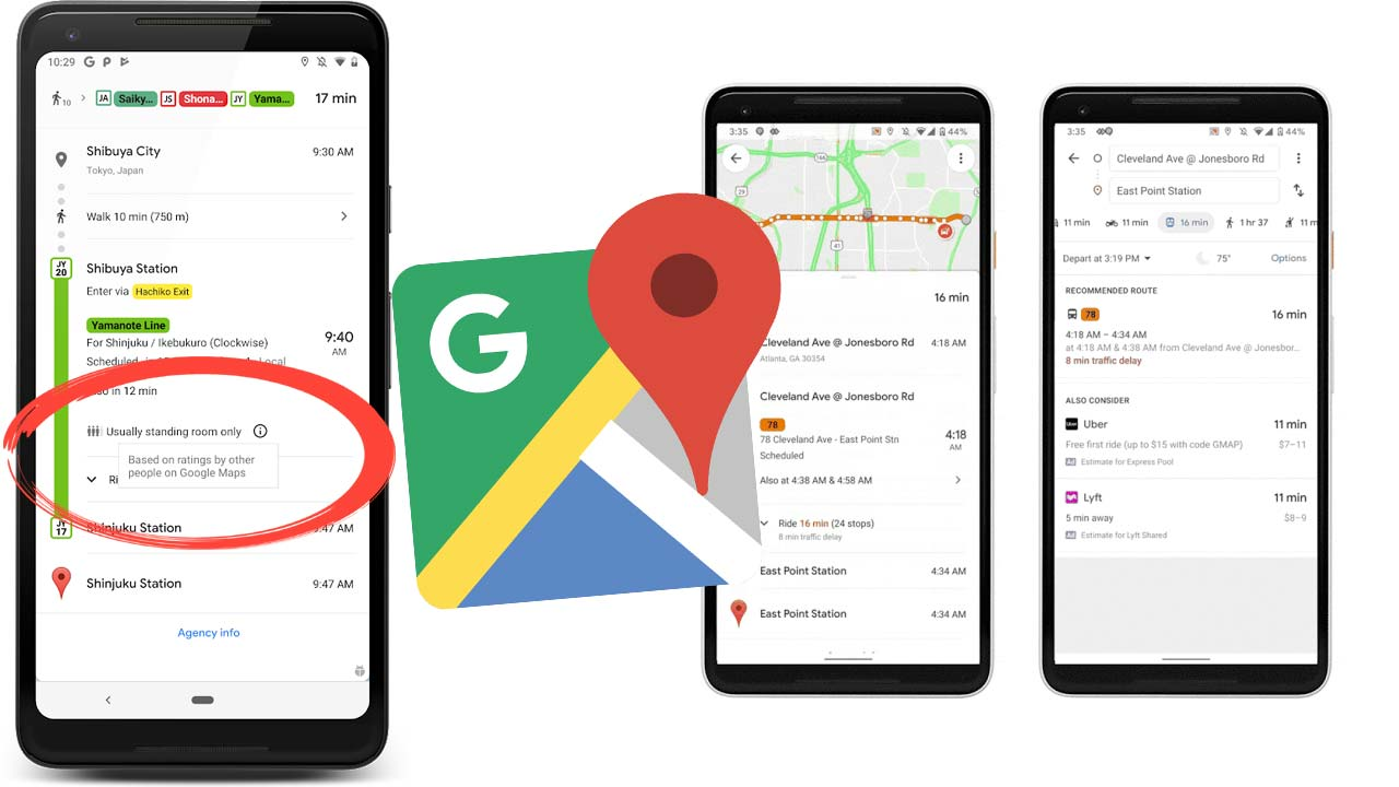 Ocupacion subte Google Maps