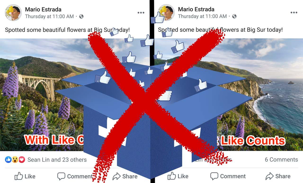 Facebook ocultar Me gusta